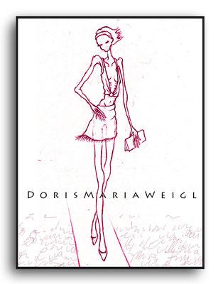 Magermodell - Grafit - Illustrationen Doris Maria Weigl / Mixed Media