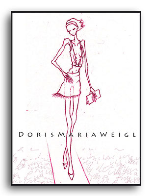 Magermodell - Grafit - Illustrationen Doris Maria Weigl / Mixed Media