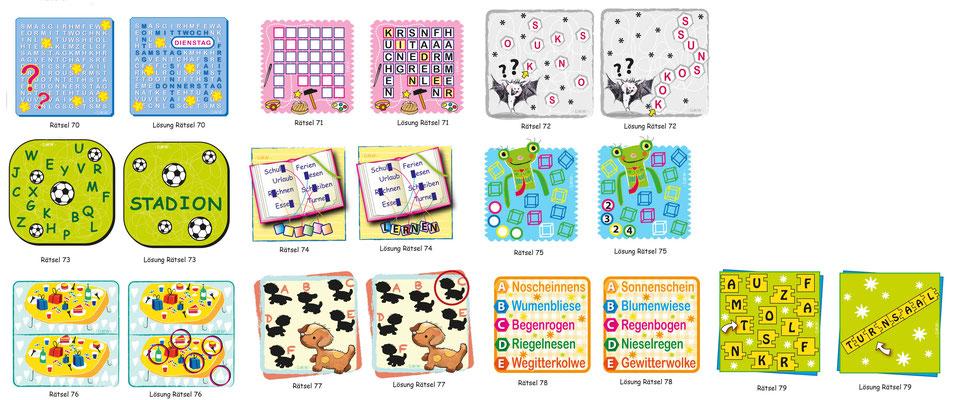 Kinderrätsel - Vektorgrafik - Illustrationen Doris Maria Weigl / Kinderbuch
