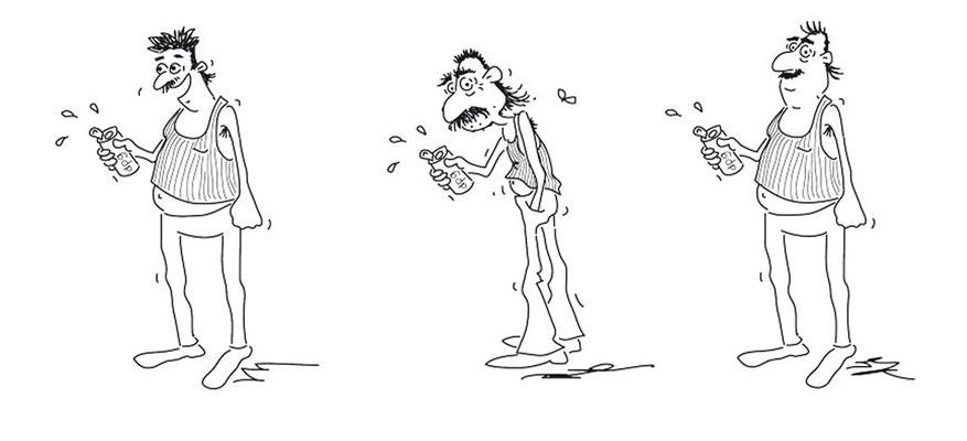 Oida - Tusche - Illustrationen Doris Maria Weigl / Comic
