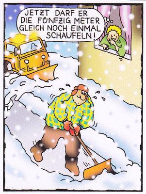 Der Schneeschaufler - 1. Comic - Illustrationen Doris Maria Weigl / Comic