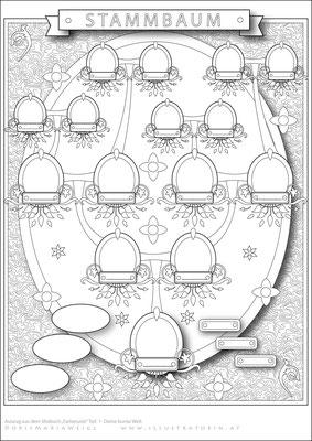 Stammbaum - Malbild - Vektorgrafik - Doris Maria Weigl