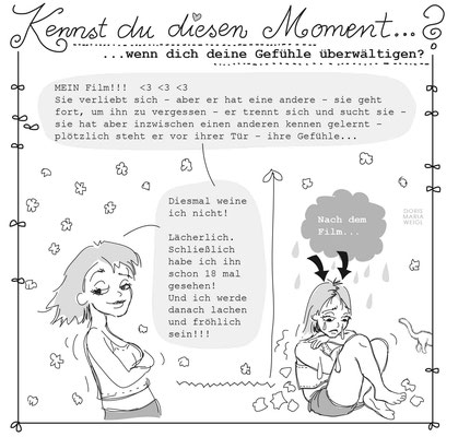 Emmas Gefühle - Vektorgrafik - Illustrationen Doris Maria Weigl / Menschen