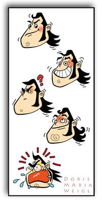 Gonzo - Vektorgrafik- Illustrationen Doris Maria Weigl / Comic