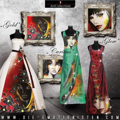 Kunst auf Kleid - Fotomix - Illustrationen Doris Maria Weigl / Mixed Media