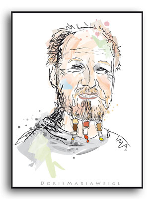 Roland Düringer - Vektorgrafik - Illustrationen Doris Maria Weigl / Portrait
