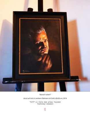 """Peter"" - Acryl auf Holz - Doris Maria Weigl / Art"