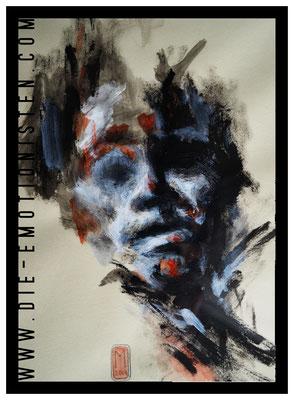 Ich - Acryl - Illustrationen Doris Maria Weigl / Portrait (verkäuflich)