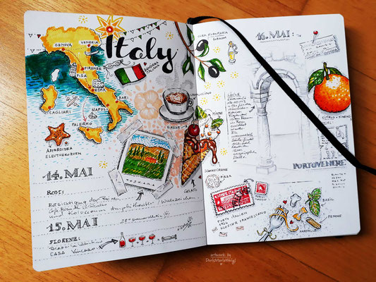 "Sketchbook - Illustration - Doris Maria Weigl - ""Italy"""