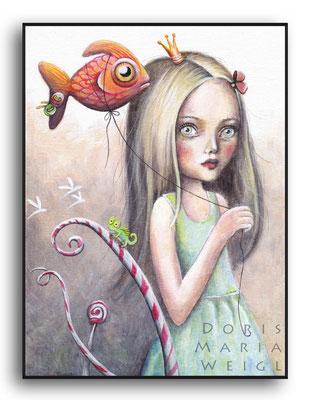 Prinzessin - Aquarell - Illustrationen Doris Maria Weigl / Kinderbuch
