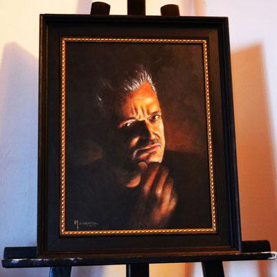 Peter Mario Werner im Stile der alten Meister - Acryl auf Holz - Illustrationen Doris Maria Weigl / Portrait