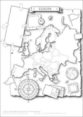 Europa - Malbild - Vektorgrafik - Doris Maria Weigl
