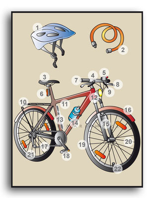 Fahrrad - Vektorgrafik - Illustrationen Doris Maria Weigl / Sport