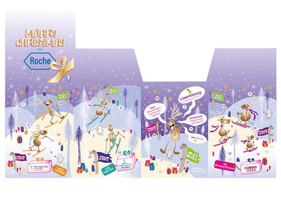 Adventkalender - Vektorgrafik - Illustrationen Doris Maria Weigl / Kinderbuch