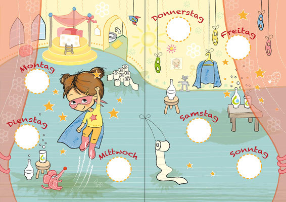 Superhelden 2 - Vektorgrafik - Illustrationen Doris Maria Weigl / Kinderbuch