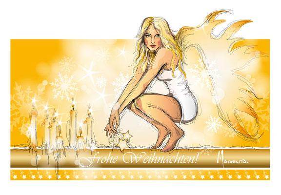 goldener Engel - Vektorgrafik - Illustrationen Doris Maria Weigl / Festtage