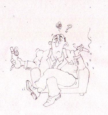 Chef - Skizze - Illustrationen Doris Maria Weigl / Comic