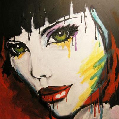 Glut - Acryl - Illustrationen Doris Maria Weigl / Portrait