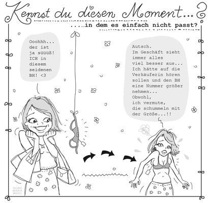 Emma kauft ein - Vektorgrafik- Illustrationen Doris Maria Weigl / Comic