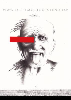 """SPIEGELBILDER 002 - """"...nichts gesehen"""" - Acryl und rotes Papier auf Karton - 20x30cm - Doris Maria Weigl"""
