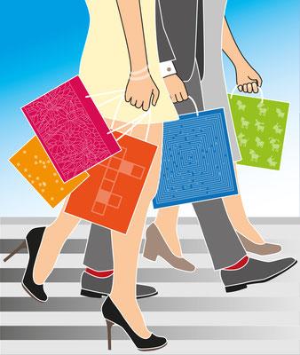 Einkauf - Vektorgrafik - Illustrationen Doris Maria Weigl / Symbole