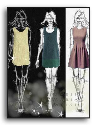 Sommerkleider - Vektorgrafik - Illustrationen Doris Maria Weigl / Mixed Media