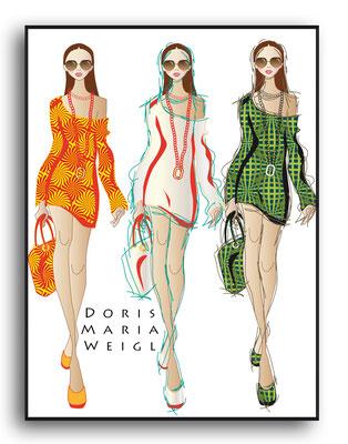 3 Farben - Vektorgrafik - Illustrationen Doris Maria Weigl / Mixed Media