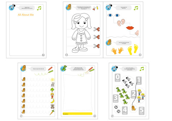 Schulbuch - Vektorgrafik - Illustrationen Doris Maria Weigl / Kinderbuch