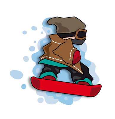 Snowboarder - Vektorgrafik - Illustrationen Doris Maria Weigl / Sport