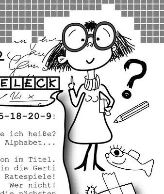 Nerdie Gertis Rätselecke - Vektorgrafik- Illustrationen Doris Maria Weigl / Comic