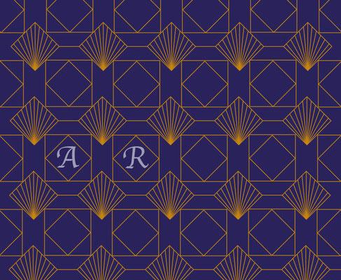 Muster Art Déco Quadrate - Vektorgrafik - Doris Maria Weigl Illustrationen