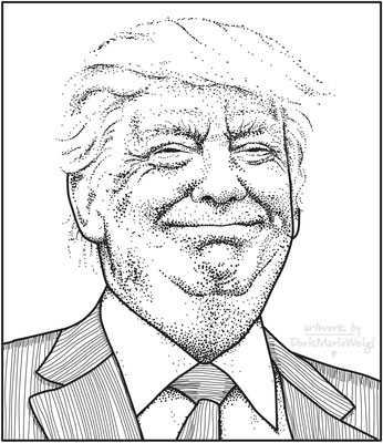 Donald Trump - Vektorgrafik - Illustrationen Doris Maria Weigl / Portrait