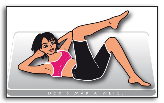 Gymnastik - Vektorgrafik - Illustrationen Doris Maria Weigl / Menschen