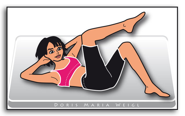 Gymnastik - Vektorgrafik - Illustrationen Doris Maria Weigl / Menschen