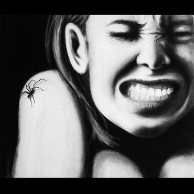 Spider - Acryl auf Leinen, 80 x 100 cm - Illustrationen Doris Maria Weigl / Portrait