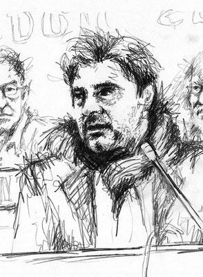 Verteidigung ai - Kohle - Illustrationen Doris Maria Weigl / Portrait
