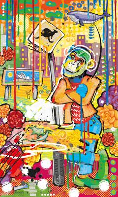 """""""Together"""" aus der Serie """"Joy"""" - digital Art - Privatsammlung Wien - von Doris Maria Weigl - Illustrationen"""