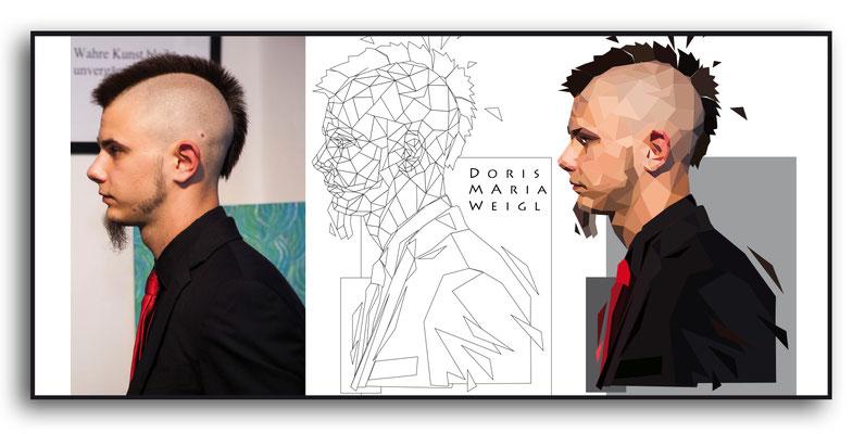 Illustration von Doris Maria Weigl / Lukas Oppenauer 2-Dimensional