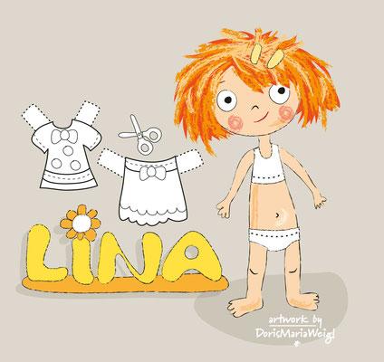 Lina bunt - Vektorgrafik - Illustrationen Doris Maria Weigl / Kinderbuch