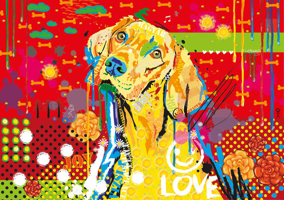 """Fini"" aus der Serie ""Joy"" - digital Art - Doris Maria Weigl - Illustrationen"