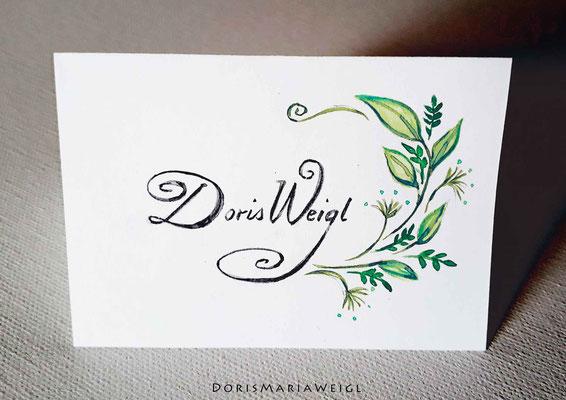 Sitzplatzkarte 3 - Illustrationen Doris Maria Weigl / Festtage / Hochzeit