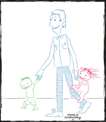 Papa - Vektorgrafik - Illustrationen Doris Maria Weigl / Kinderbuch
