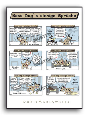 Boss Dog - Vektorgrafik- Illustrationen Doris Maria Weigl / Comic
