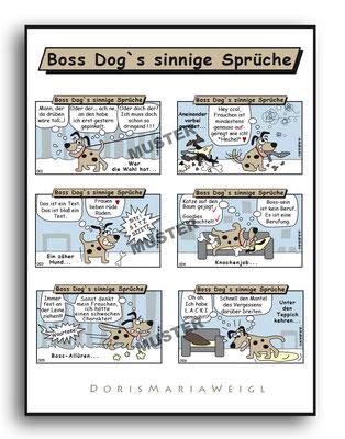 Boss Dog - Vektorgrafik- Illustrationen Doris Maria Weigl / Comic