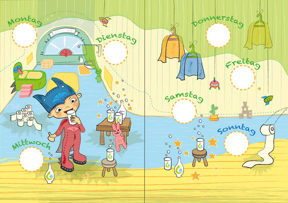 Superhelden 1 - Vektorgrafik - Illustrationen Doris Maria Weigl / Kinderbuch