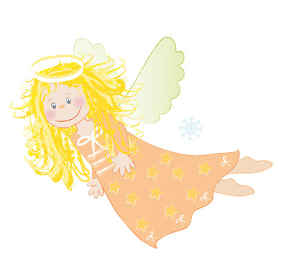 Fliegender Engel - Vektorgrafik - Illustrationen Doris Maria Weigl / Festtage