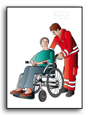 Sanitäter - Vektorgrafik - Illustrationen Doris Maria Weigl / Menschen