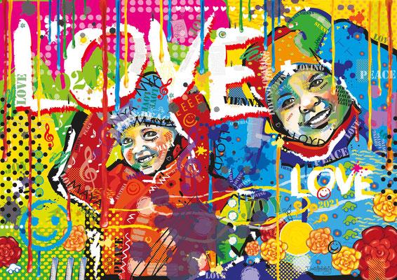 """""""Kinder"""" aus der Serie """"Joy"""" - digital Art - Doris Maria Weigl - Illustrationen"""