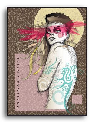 mit Schein - Vektorgrafik - Illustrationen Doris Maria Weigl / Menschen
