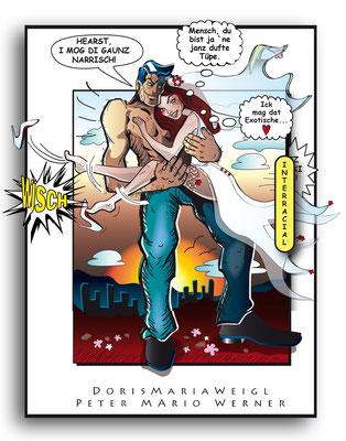 Das Brautpaar - Vektorgrafik- Illustrationen Doris Maria Weigl / Comic